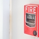 red-fire-alarm-system-on-wall